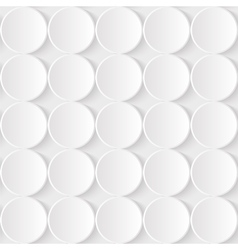 White Paper Seamless Pattern from 3d vector image