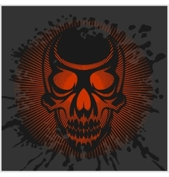 Aggressive skull for motocross helmet vector