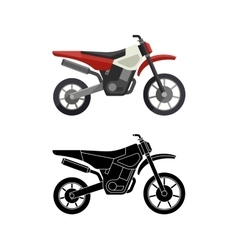 Motorcycles flat icons vector image