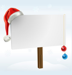 a christmas sign vector image vector image