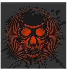 aggressive skull for motocross helmet vector image