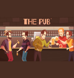 beer pub flat vector image