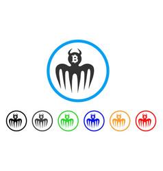 Bitcoin spectre devil icon vector