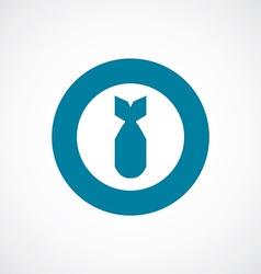 Bomb icon bold blue circle border vector