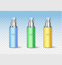 cosmetic bottle can sprayer container set vector image vector image