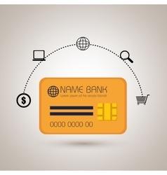 credit card money buy vector image