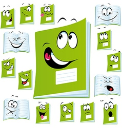 exercise book cartoon vector image vector image