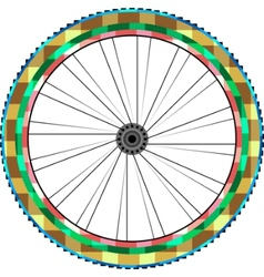 front wheel vector image vector image