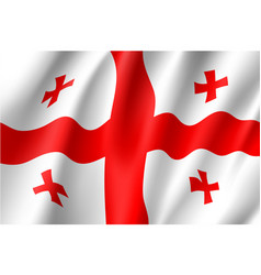 georgia national flag vector image vector image