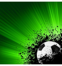 grunge burst football poster vector image vector image