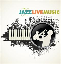Grunge jazz banner vector