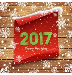 Happy New Year 2017 background template vector image vector image