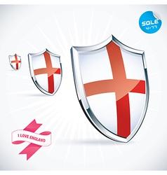 I love england flag vector