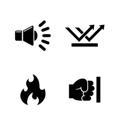 Influence noise simple related icons vector