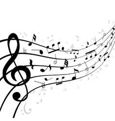Music notes on a stave or staff vector