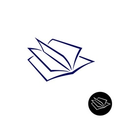 Open book logo vector