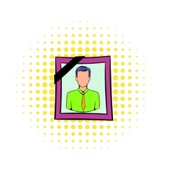 Photo of deceased icon comics style vector image