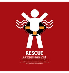 Rescue vector image