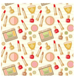 Seamless cosmetics pattern vector image vector image