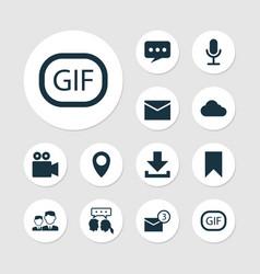 Social icons set collection of partnership gif vector