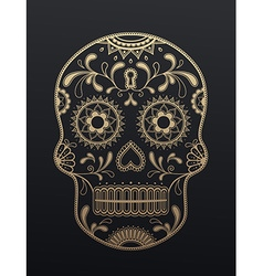 Sugar Skull day of the dead vector image