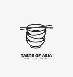 taste of asia logo vector image vector image