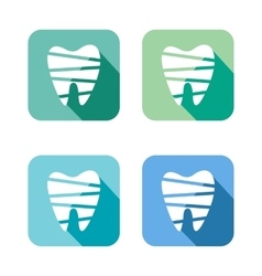 Tooth web icons set vector image vector image