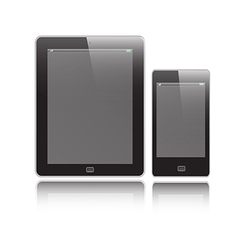 Vertical Tablet and Mobile vector image vector image