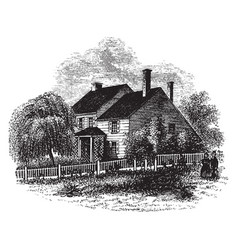 Washingtons headquarters at brandywine vintage vector