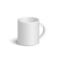 White realistic mug vector