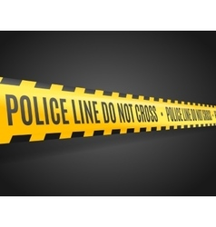 Police line with text not cross vector