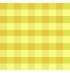 Yellow checkered cloth vector