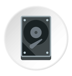 Cd rom icon flat style vector