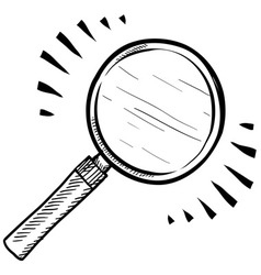 Doodle magnifying glass vector