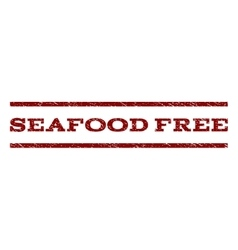 Seafood free watermark stamp vector