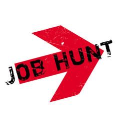 Job hunt rubber stamp vector