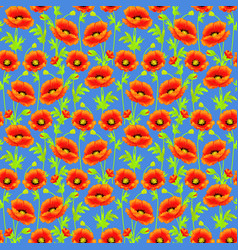 seamless background with bright poppies tissue or vector image