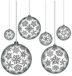 christmas melody musical christmas balls vector image
