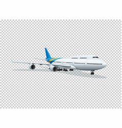 Airplane on transparent background vector