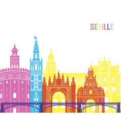 seville v2 skyline pop vector image