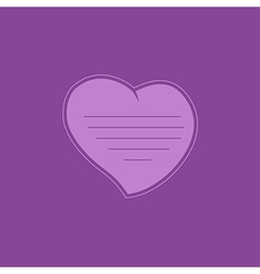 Heart on purple background vector