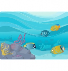 underwater illustration vector image