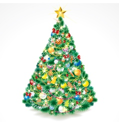 Beauty christmas tree vector