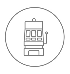 Slot machine line icon vector