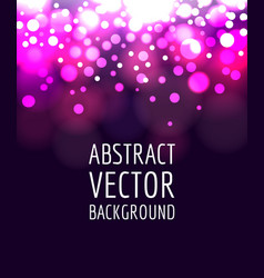 abstract bokeh vector image vector image
