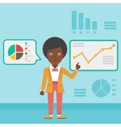 Businesswoman making business presentation vector