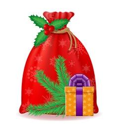 christmas bag 03 vector image vector image