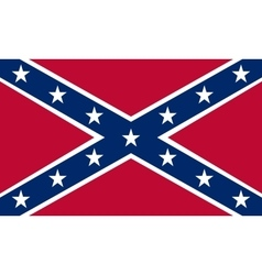 Confederate rebel flag correct proportions colors vector image