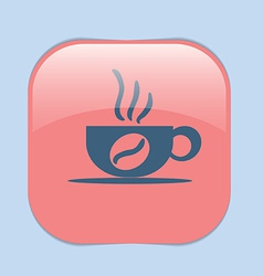 Cup of hot drink Icon cafe or diner vector image