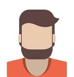 Faceless man portrait icon vector
